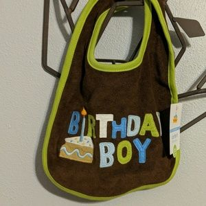 Boys Carter's Birthday Boy Bib NWT